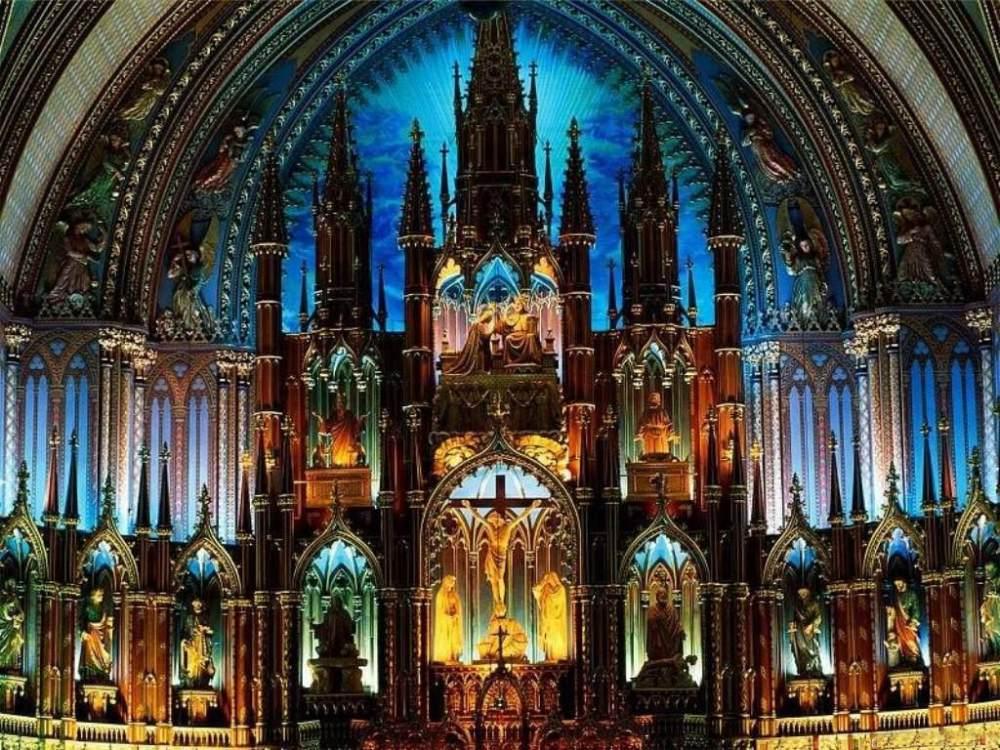 你愿意和我一起走遍世界上的教堂吗?_montreal的圣母大教堂