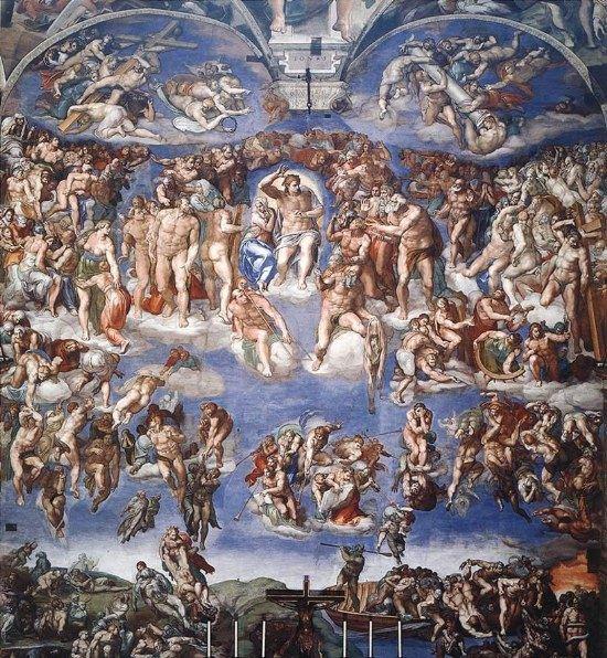 你愿意和我一起走遍世界上的教堂吗?_教堂 西斯廷教堂壁画 末日审判 主画面.jpg