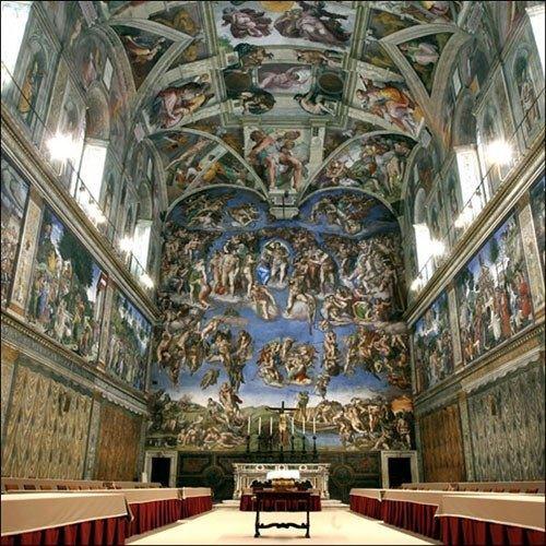 你愿意和我一起走遍世界上的教堂吗?_西斯廷教堂壁画 末日审判 正面.jpg
