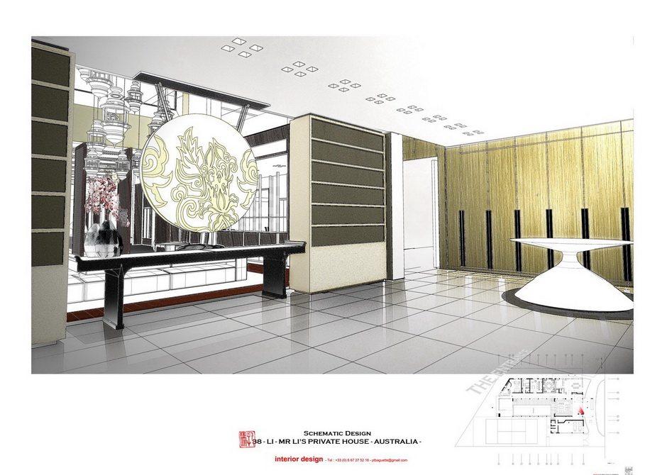 法国托马斯的别墅设计方案【偶得之】_LI -  PRES - ENTRANCE 1.jpg