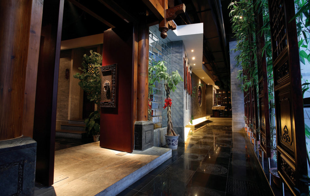 Top restaurant design 高级餐饮空间案例_春秋茶楼二院门厅2.jpg