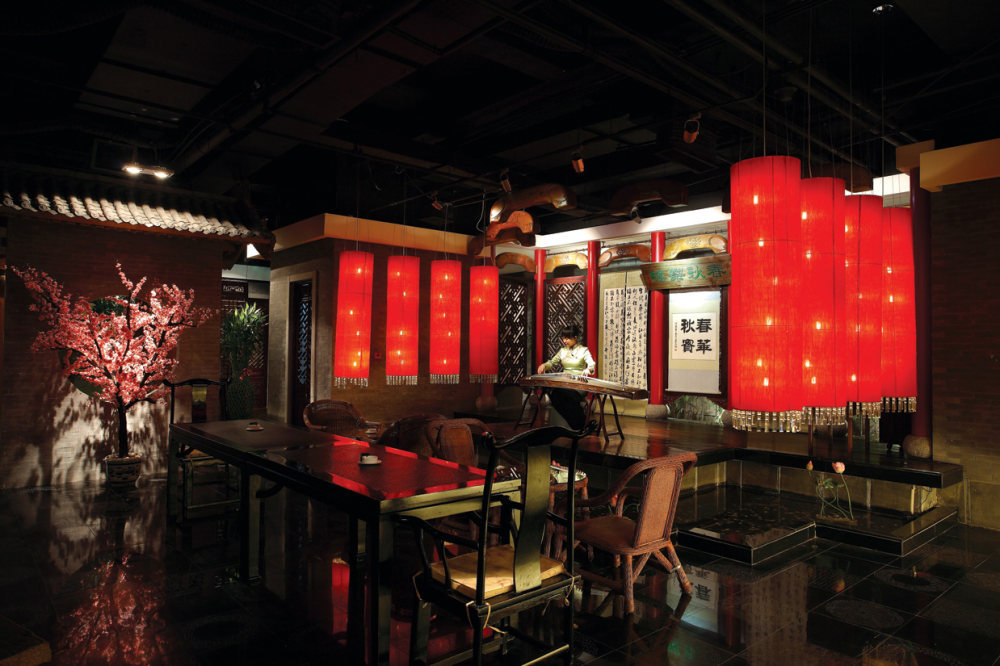 Top restaurant design 高级餐饮空间案例_春秋茶楼二院戏台.jpg