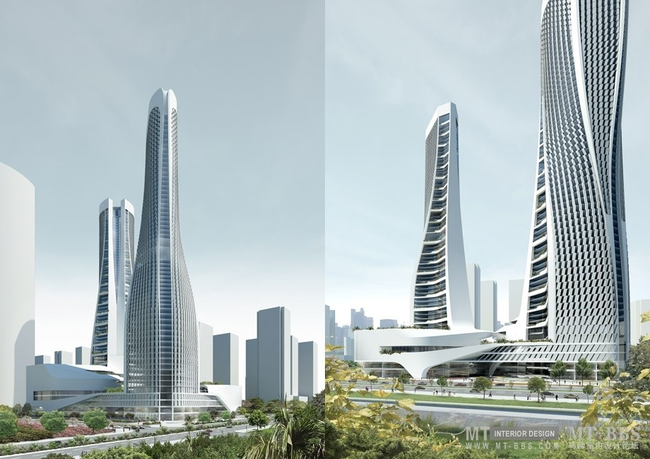 UNStudio (United Network Studio )_Raffles City ,Hangzhou 大型混合使用项目,杭州莱福士城(中国,2008-2012)