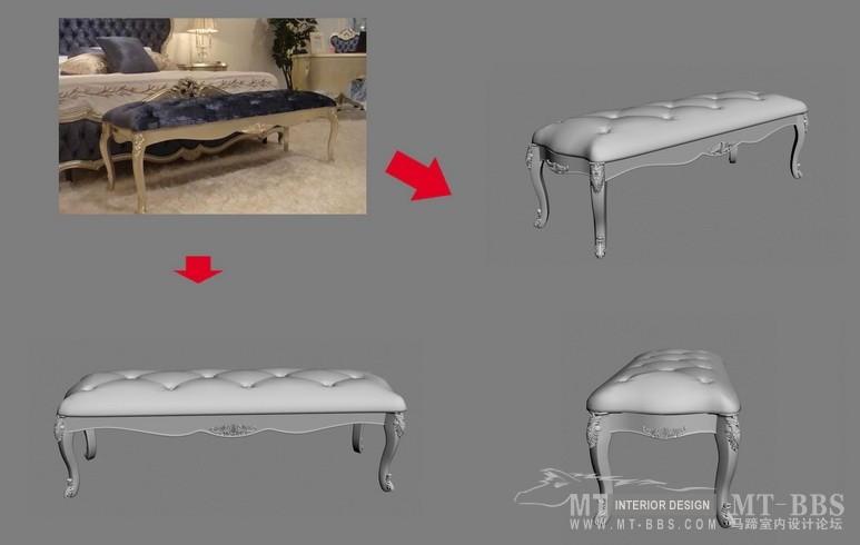 【绝对经典】新古典家具之宫廷壹号家具3D模型!解压后1.07G_歌德床前凳.jpg