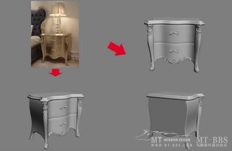 【绝对经典】新古典家具之宫廷壹号家具3D模型!解压后1.07G_歌德床头柜.jpg