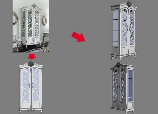 【绝对经典】新古典家具之宫廷壹号家具3D模型!解压后1.07G_酷爵浅色二门酒柜.jpg