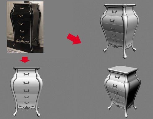 【绝对经典】新古典家具之宫廷壹号家具3D模型!解压后1.07G_酷爵浅色五斗柜.jpg