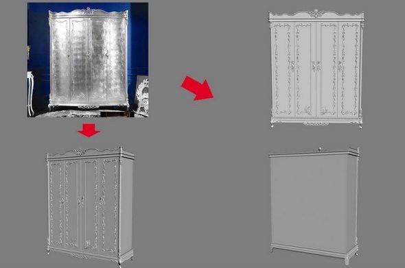 【绝对经典】新古典家具之宫廷壹号家具3D模型!解压后1.07G_慕银四门衣柜.jpg