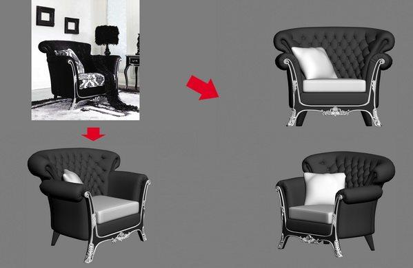 【绝对经典】新古典家具之宫廷壹号家具3D模型!解压后1.07G_银爵深色系列单人沙发.jpg