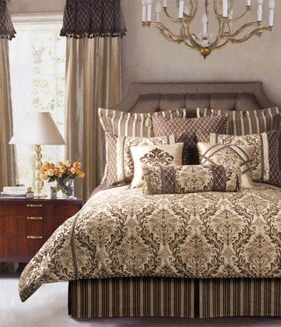 美式软装布艺、床品、饰品、窗帘、家具整合资料——完整套系整适合做方案用_整体搭配图