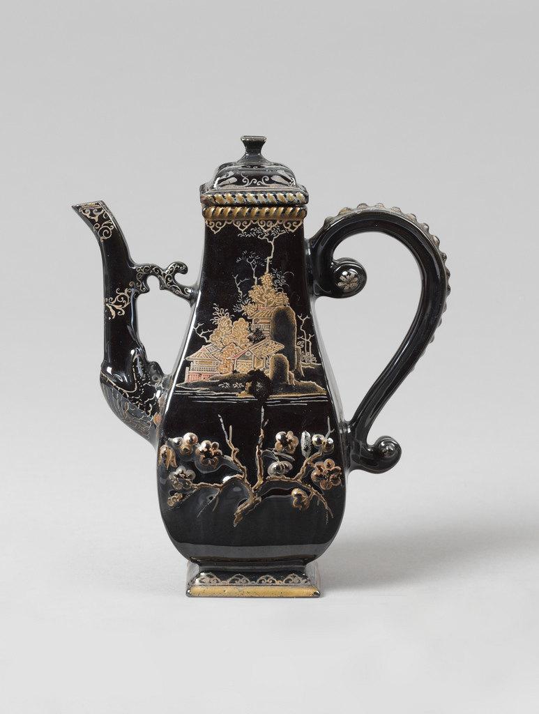 黑釉瓷咖啡壶