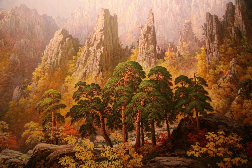 朝鲜金刚山秋(油画)2.jpg