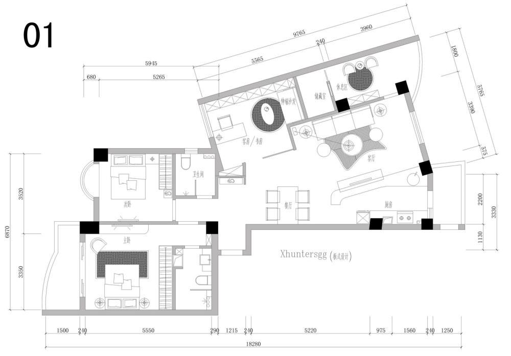 【第一期-住宅平面优化】一个奇异户型13个方案,求投票+点评_01.jpg