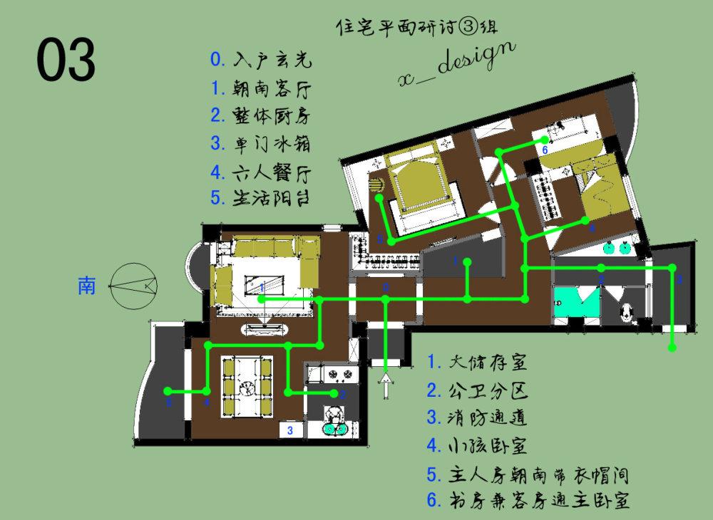 【第一期-住宅平面优化】一个奇异户型13个方案,求投票+点评_03.jpg
