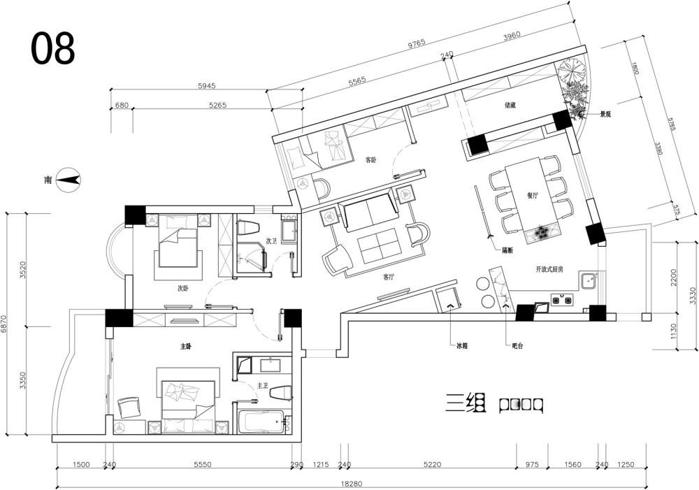 【第一期-住宅平面优化】一个奇异户型13个方案,求投票+点评_08.jpg