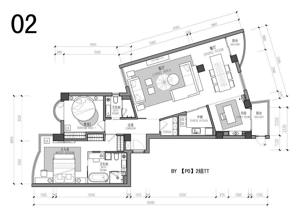 【第一期-住宅平面优化】一个奇异户型13个方案,求投票+点评_02.jpg
