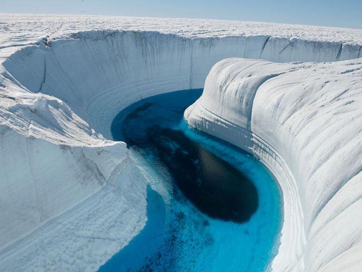 冰峡谷,格陵兰岛。