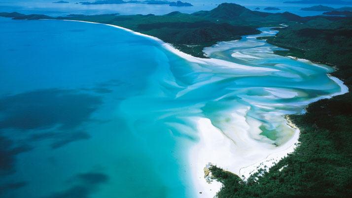Whitehaven海滩,降灵岛,澳大利亚