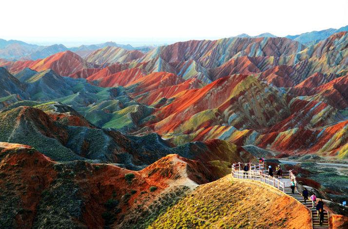 Zhangye丹霞地貌地质公园在甘肃省,中国