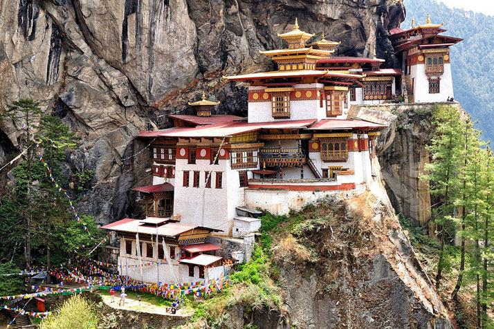 Palphug Taktsang修道院(也称为老虎的巢穴),帕罗河谷、不丹