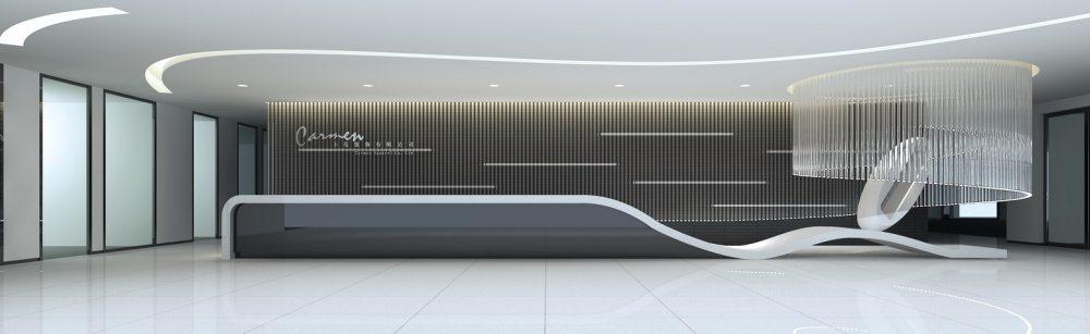 江天伦(JDD经典)—卡蔓中心外立面改造及内部空间设计_十层接待前厅