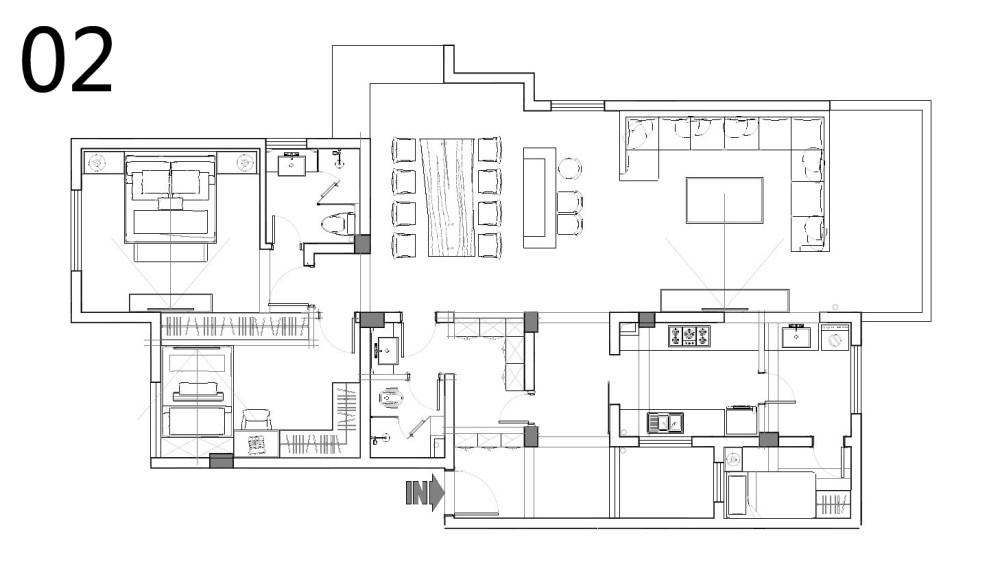 【第二期-住宅平面优化】同一户型19个方案,求投票+点评_02.jpg