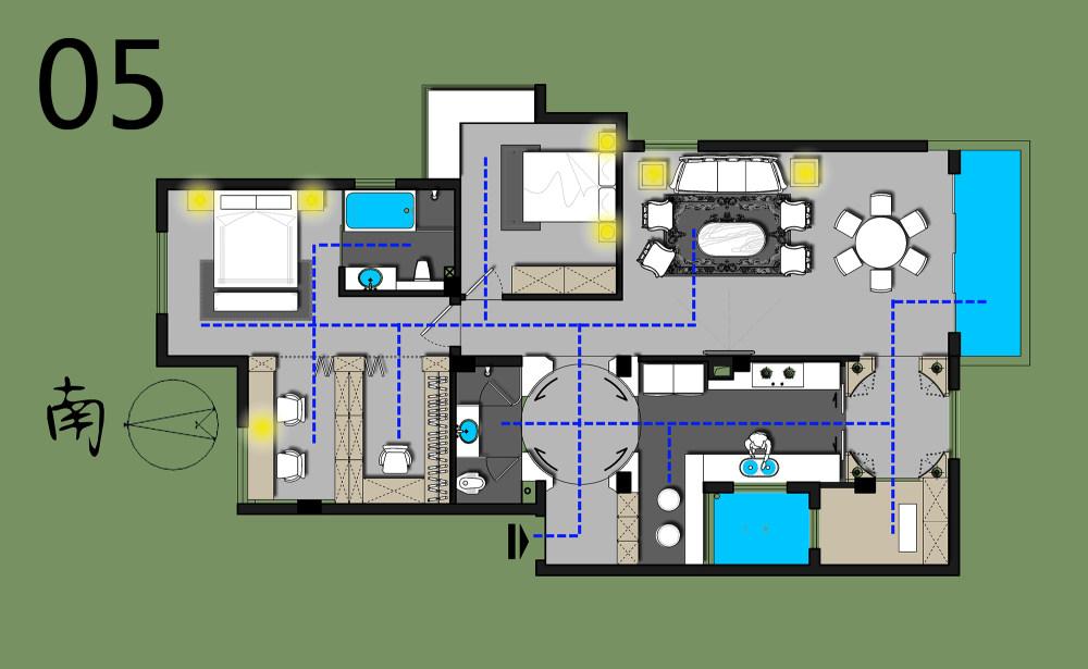 【第二期-住宅平面优化】同一户型19个方案,求投票+点评_05.jpg