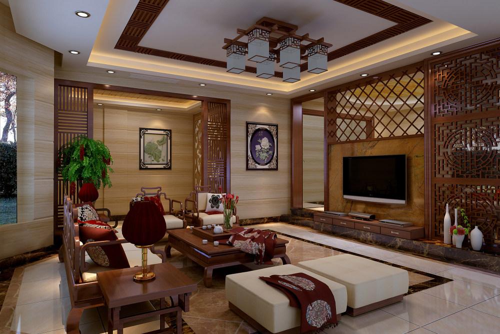 【中式 东南亚风格】 家装效果图 飘逸典雅 高清大图_64.jpg