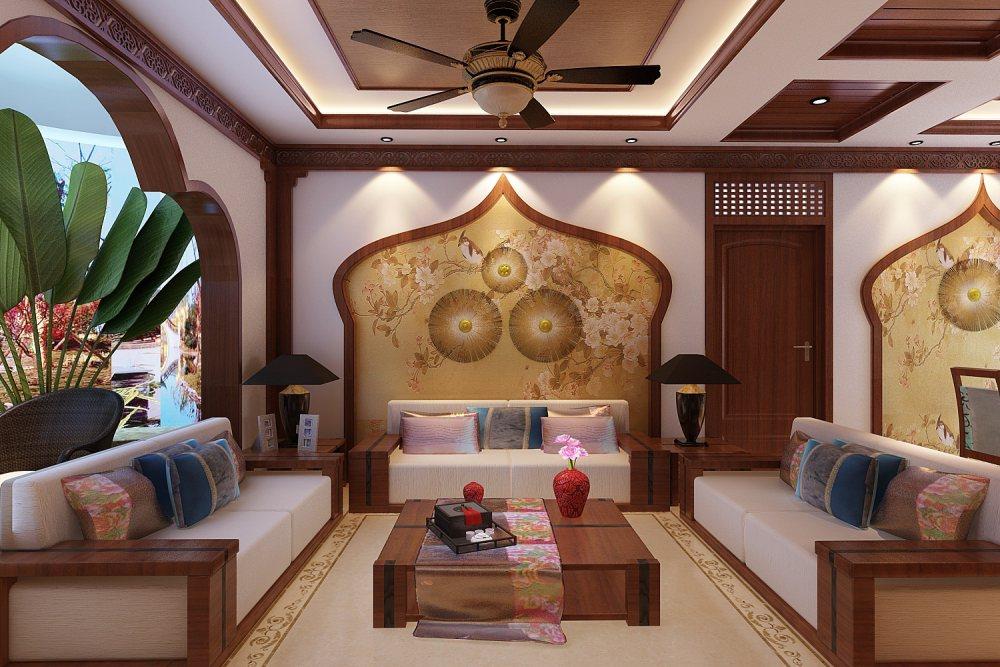 【中式 东南亚风格】 家装效果图 飘逸典雅 高清大图_67-1.jpg