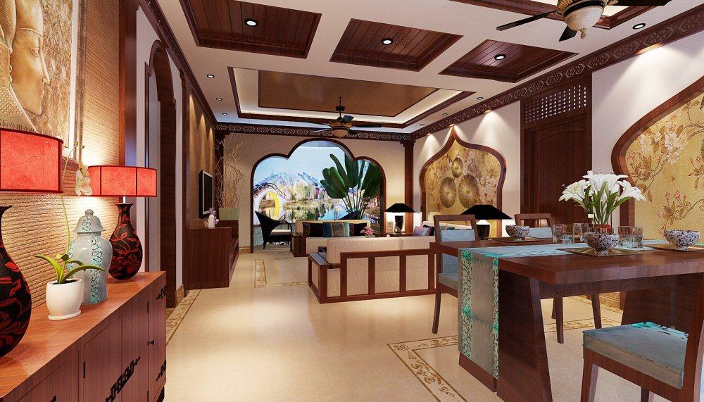 【中式 东南亚风格】 家装效果图 飘逸典雅 高清大图_67-2.jpg