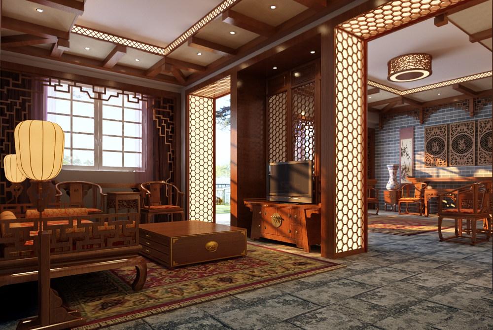 【中式 东南亚风格】 家装效果图 飘逸典雅 高清大图_72-1.jpg