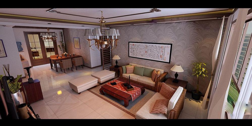 【中式 东南亚风格】 家装效果图 飘逸典雅 高清大图_99-3.jpg
