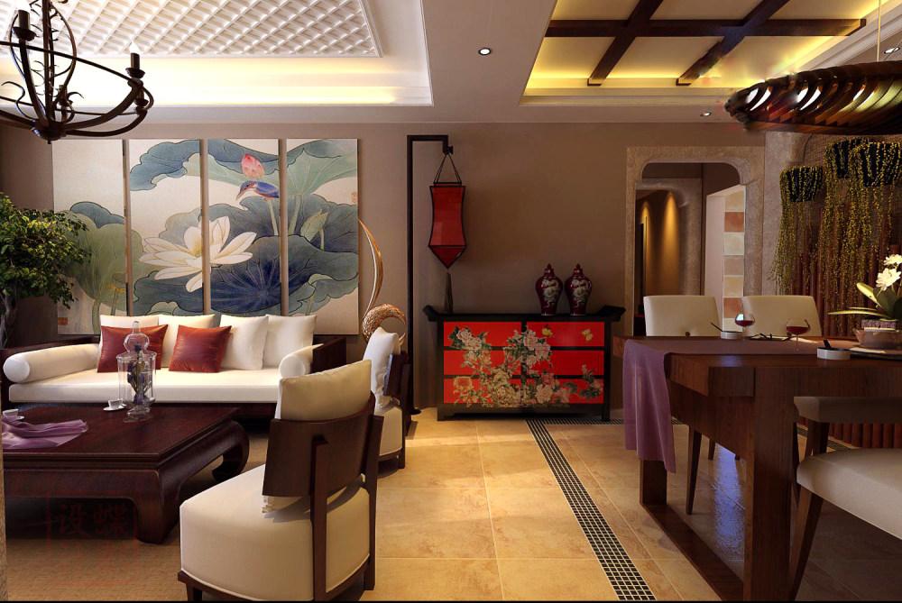 【中式 东南亚风格】 家装效果图 飘逸典雅 高清大图_103-5.jpg