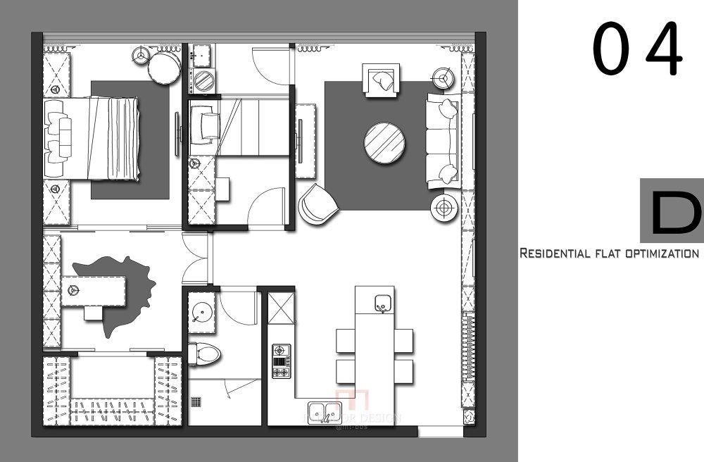 【第四期-住宅平面优化】 一个小户型13个方案,求投票+点评_04.jpg