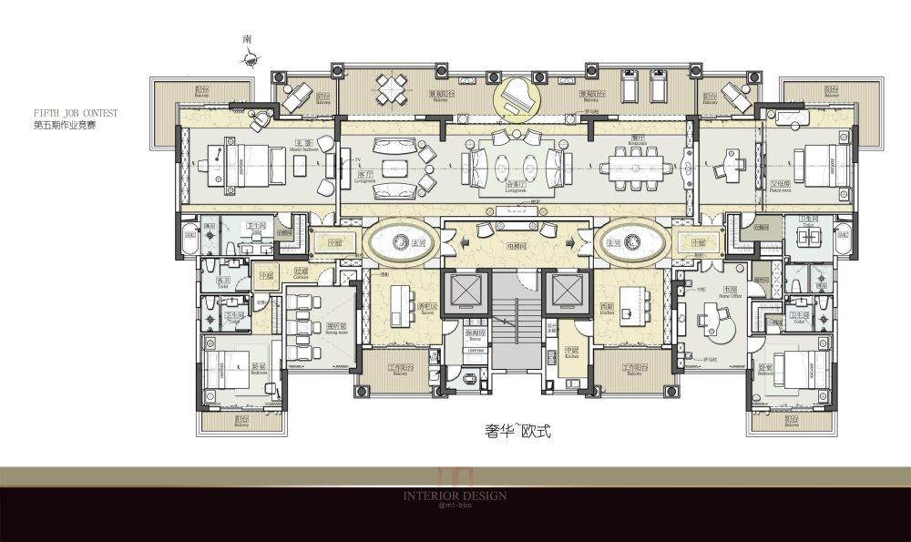 【第五期-住宅平面优化】 两套打通户型16个方案,求投票点评_07.jpg