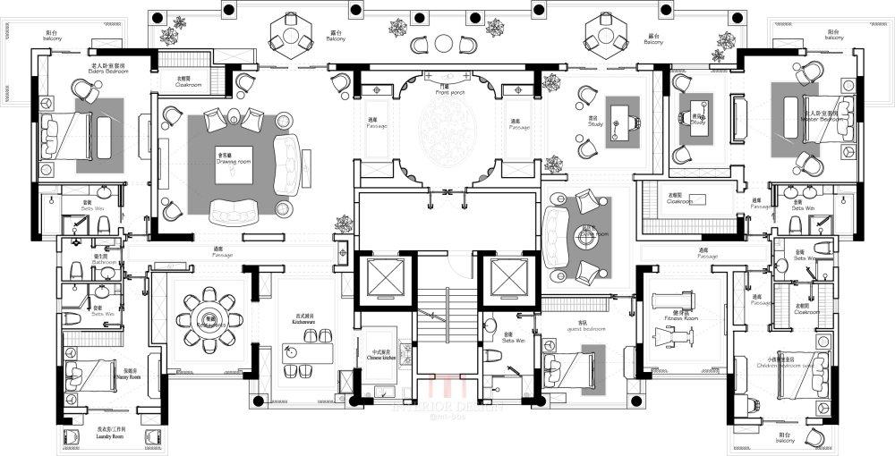 【第五期-住宅平面优化】 两套打通户型16个方案,求投票点评_03.jpg