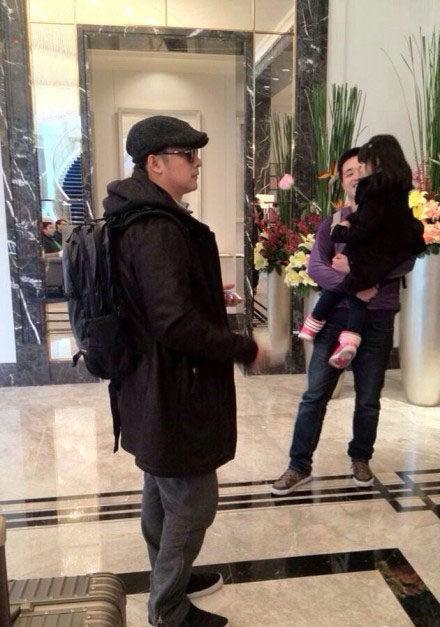 Angela和岳伦在深圳东海朗廷酒店check out2