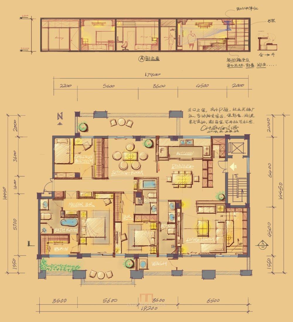 【第七期-住宅平面优化】一个250m²户型12个方案,求投票+点评_01.jpg