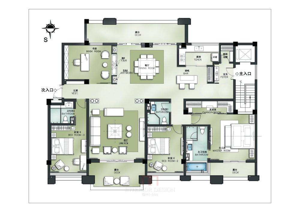 【第七期-住宅平面优化】一个250m²户型12个方案,求投票+点评_08.jpg