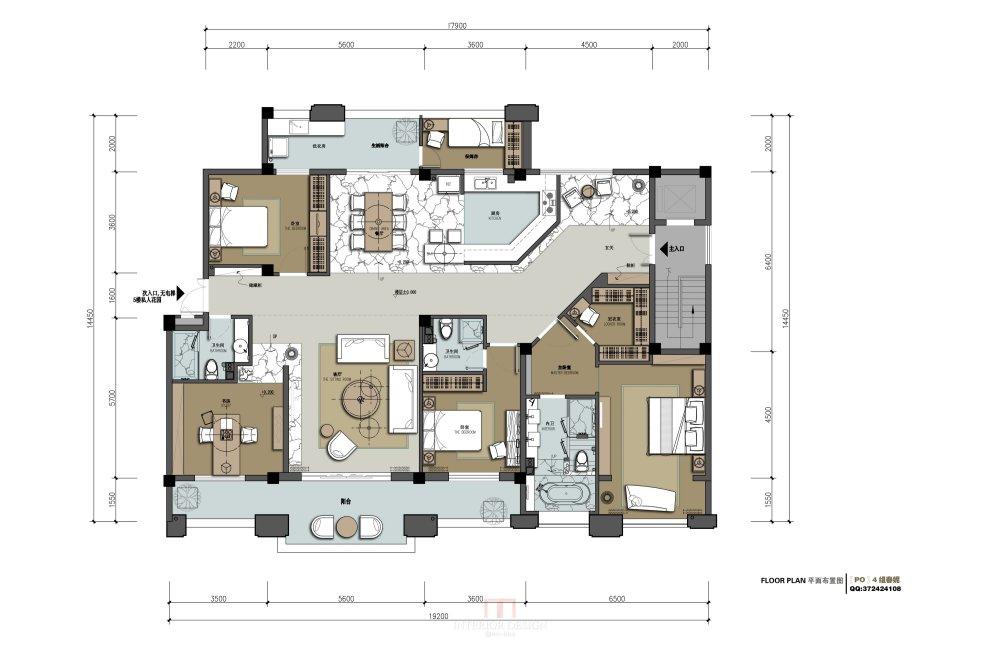 【第七期-住宅平面优化】一个250m²户型12个方案,求投票+点评_09.jpg