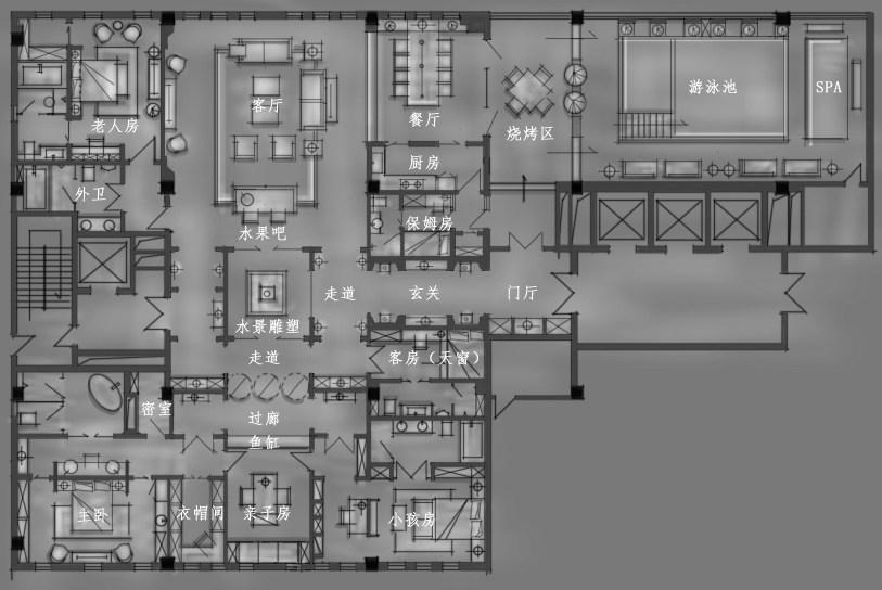 【第八期-住宅平面优化】一个480m²顶层豪宅13个方案 投票奖DB_02.jpg