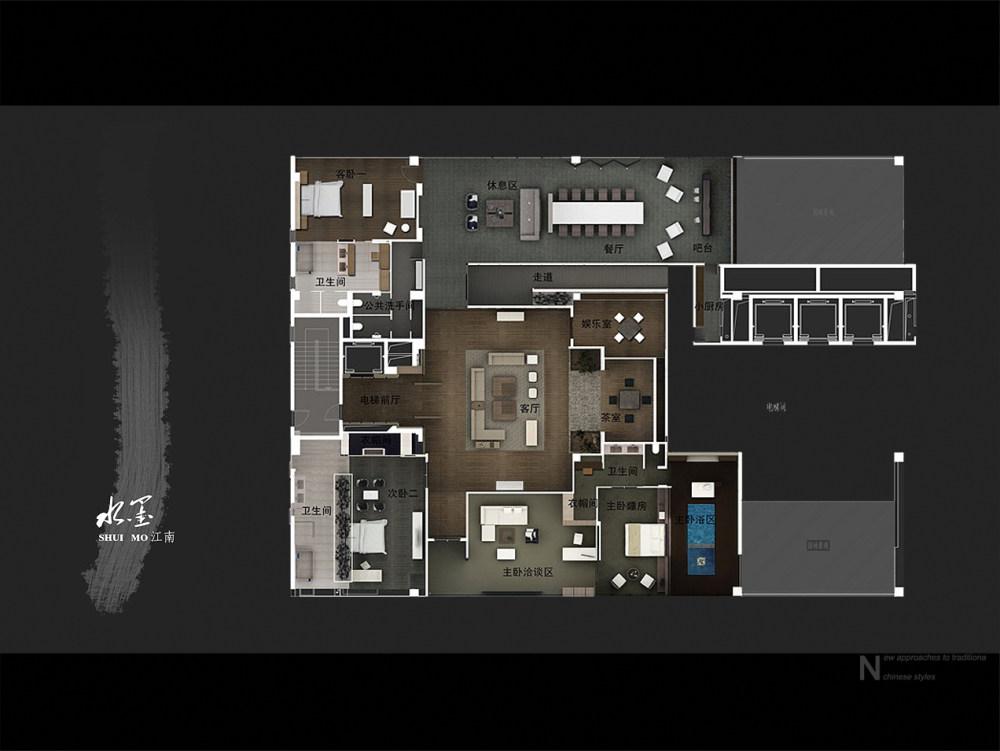 【第八期-住宅平面优化】一个480m²顶层豪宅13个方案 投票奖DB_07.jpg
