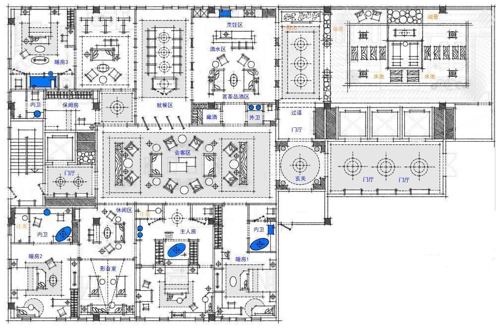 【第八期-住宅平面优化】一个480m²顶层豪宅13个方案 投票奖DB_08.jpg
