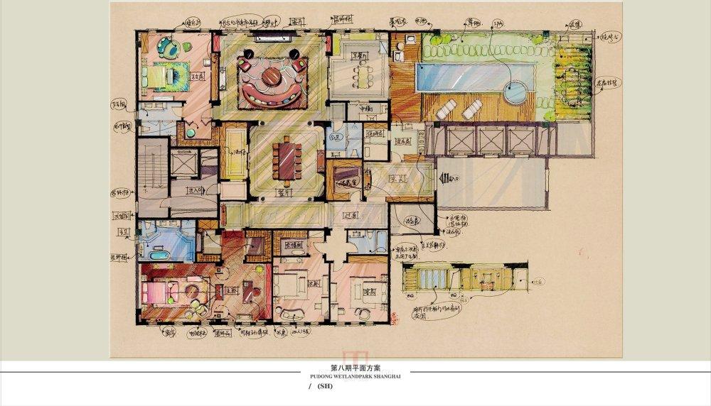 【第八期-住宅平面优化】一个480m²顶层豪宅13个方案 投票奖DB_01-1.jpg