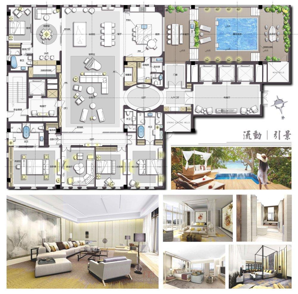 【第八期-住宅平面优化】一个480m²顶层豪宅13个方案 投票奖DB_06.jpg