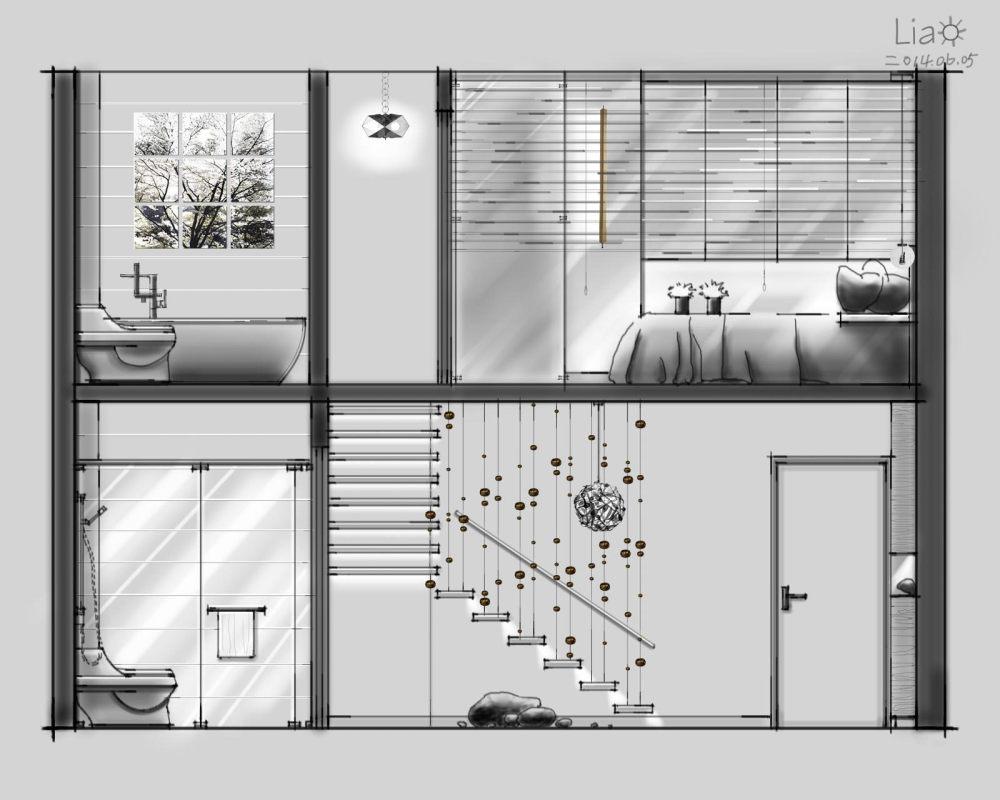 【第九期-住宅平面优化】一个40m²loft户型11个方案 投票奖励DB_02-6.jpg