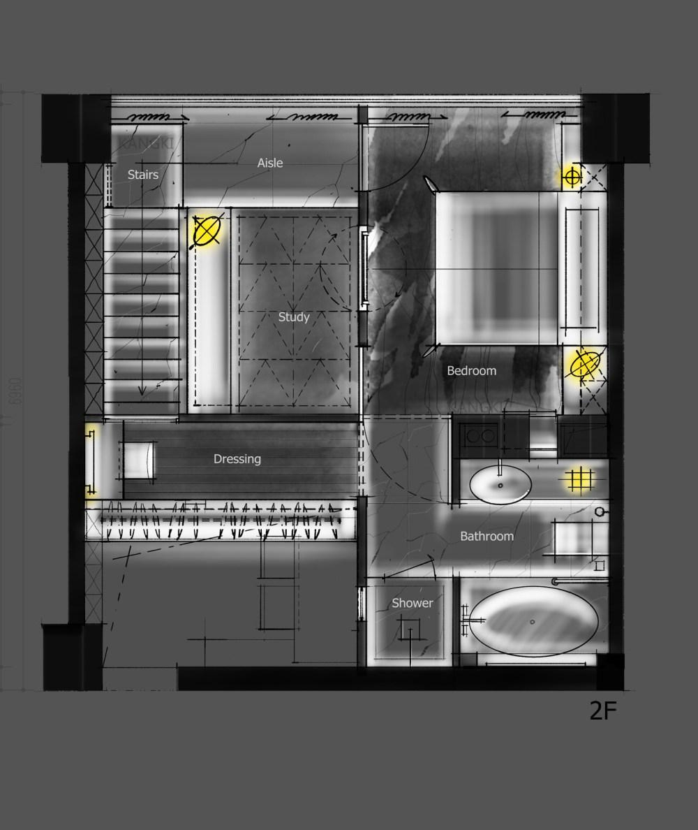 【第九期-住宅平面优化】一个40m²loft户型11个方案 投票奖励DB_01-3.jpg