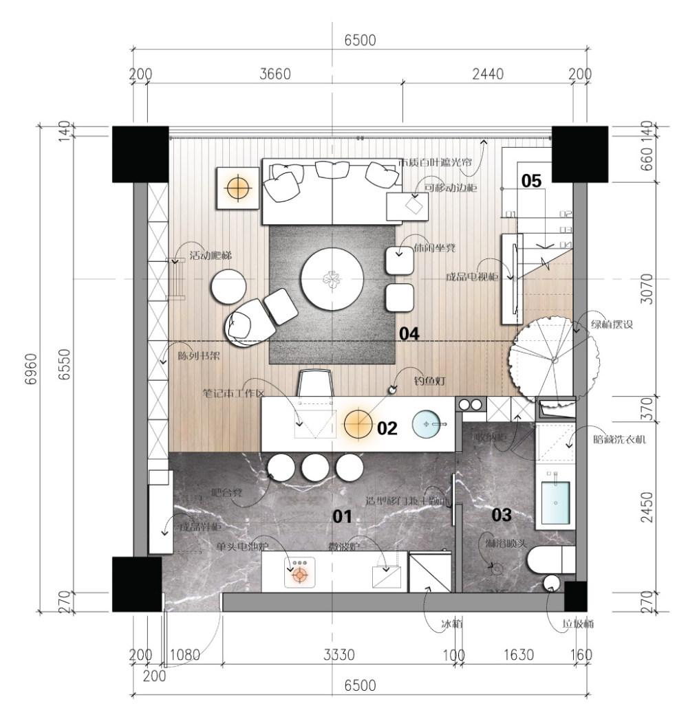 【第九期-住宅平面优化】一个40m²loft户型11个方案 投票奖励DB_04-1.jpg