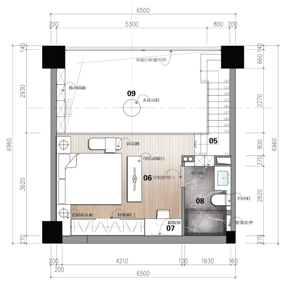 【第九期-住宅平面优化】一个40m²loft户型11个方案 投票奖励DB_04-2.jpg