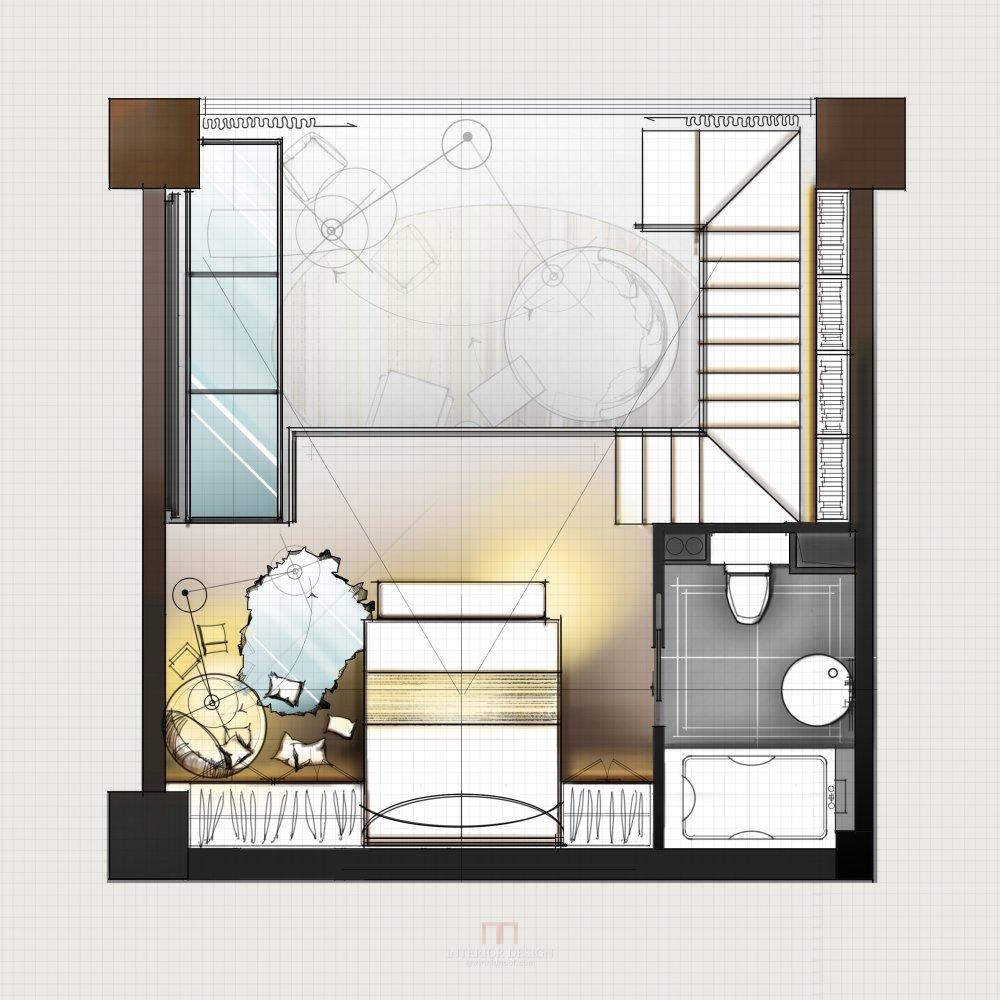 【第九期-住宅平面优化】一个40m²loft户型11个方案 投票奖励DB_05-2.jpg